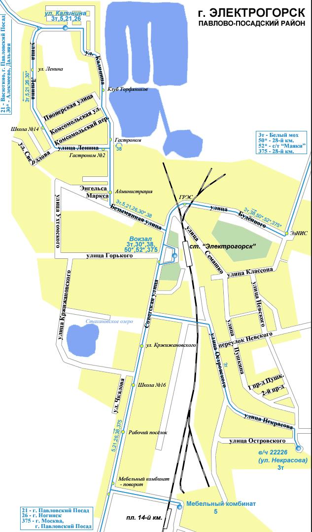 Карта движения маршрутного